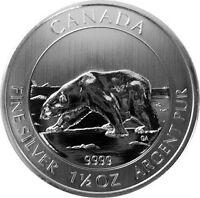 2013 silver polar bear/ours polaire en argent 1,5 once/ounce