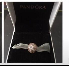 Pandora pave ball charm