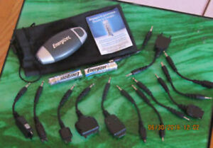 Energizer portable cellphone charger with set of connectors