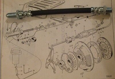 HILLMAN Imp Mk1  Clutch Slave Cylinder Hose Pipe   (1963- Oct 68 Only)