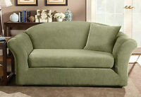 Price reduced brand new Sure Fit 2 piece loveseat slipcover SAGE