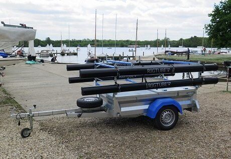 Mersea box trailer with rack for dinghies / Topper / laser / Rigtubes