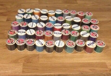 50x plastic spool sylko threads, New, unused
