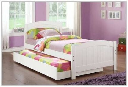 King Single Bed with Trundle & 2 Mattress