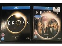 Heroes Complete Season 1 and 2 Blu Ray DVD Box Sets (OPEN TO OFFERS)