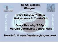 Tai Chi Classes and Private Tuition in Glasgow. First Class is free, and beginners are welcome