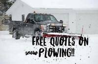 FREE QUOTES ON SNOW PLOWING!!! ❄️