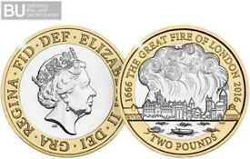 2016 UK Great Fire of London CERTIFIED £1 350th anniversary