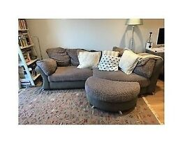 DFS embrace corner sofa with footstool - excellent condition