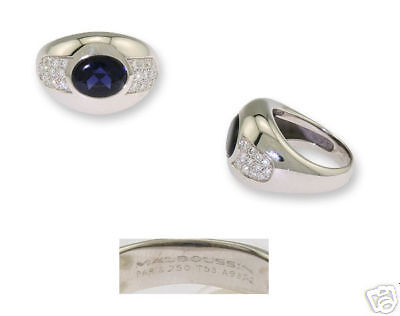 18k Wg Ladies Mauboussin Iolite Diamond Ring