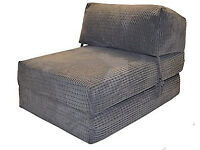 CHAIRBED - CHARCOAL DA VINCI Deluxe Single Chair Bed