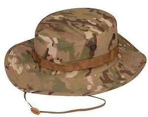 91ed4c30e52 Multicam Camo 50 50 NYCO Ripstop TRU-SPEC Military Boonie Hat Size 7 1 4 M