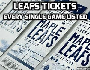 ALL GAMES!!★★TORONTO MAPLE LEAFS TICKETS ★★(VIEW TICKETS NOW)