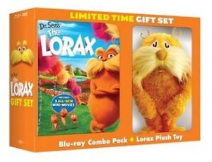 Lorax- Gift Set-Blu-ray Combo Pack + Plush Toy-New and sealed