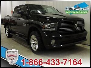 2014 Ram 1500 Sport, Heated and Cooled Leather, Bluetooth