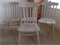 Farmhouse pine chairs x 4