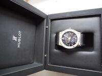 Hublot Ultra thin titanium CF watch open to offer