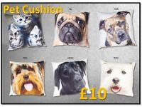 Pet Cushion - Kittens Westies, Pug ,Yorkie, Staffie, Labrador.