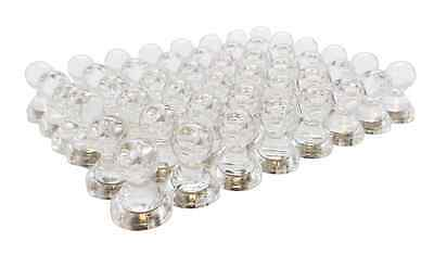 Small Strong Clear Magnetic Push Pins Neodymium Magnets Translucent 48 Pack