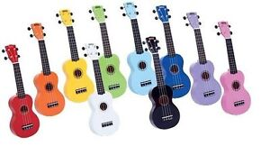 Mahalo Ukulele Rainbow Series Ukuleles lW/ Bag NEW MIKES MUSIC