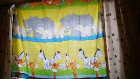 Curtains for children's room, width 156cm, length 135cm