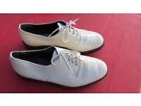 "Vintage Italian ""Flash"" White Patent Gents Dress Shoes"