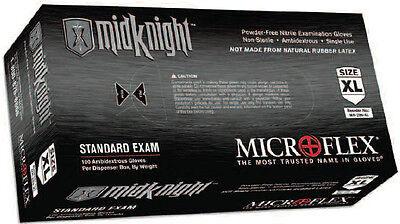 Microflex Midknight Powder-free Nitrile Examination Gloves 100box M L Xl Xxl