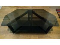 Smokey black glass tv unit / cabinet