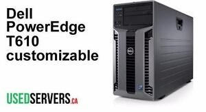 Dell PowerEdge T610 Tower Server Custom Configured - IDRAC - Warranty - Up to 12 Cores and 192GB of Ram