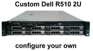 Dell PowerEdge R510 2U Storage Server Custom Configuration (8x 3.5 HD Server) - Great as a backup or file server.