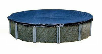 Swimline 24 Foot Round Above Ground Swimming Pool Winter Cover, Blue | PCO827