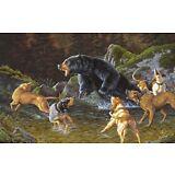 Troubled Waters by Tom Mansanarez Bear Hound Print 30x21.5