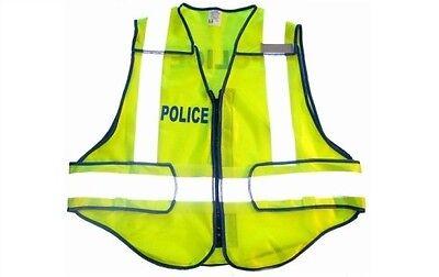 Carolina Safety Sport Zip N Rip Adjustable M-xl Police Bright Reflective Vest