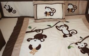 BRAND NEW!BabyFad Monkey 10 piece Baby Crib Bedding set. $120.00