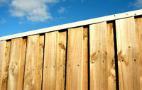 FENCES AT COST--YOU ONLY PAY US THE LABOR!!