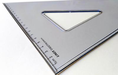 TZ Geometrie Dreieck groß 45° D4532 TFM LINEX Rotring Architekt Profiqualität