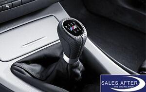 Original BMW E90 E91 E92 E93 M Schaltknauf Schaltknopf Sport Lochleder 6 Gang