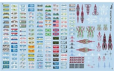 Gofer Racing Decals 1:24-1:25 License Plate Decal Sheet 11001 GOF11001