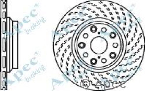 1 OE Quality Replacement Rear Right Apec Vented Brake Disc 5 Stud 335mm Single
