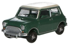 Oxford-Diecast-Austin-Mini-Almond-in-British-Racing-Green-76MN003-OO-HO