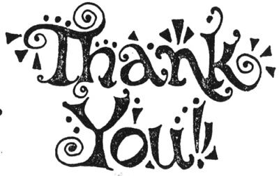 (Unmounted Rubber Stamps, Bold Thank You, Thank You Stamps, Sentiments & Sayings)