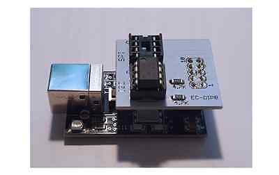 Spi And I2c Flash Eeprom Memory Programmer With Dip8 Socket Adapter Usb 2.0