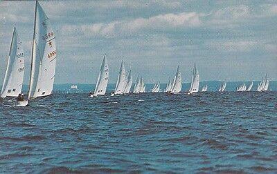"*New York Postcard-""Star Boats/Racing @ Long Island Sound's Salty Waters (#155 )"