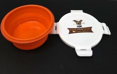 2 pack Collapsible Silicone Travel Bowls w/ lid for Dogs, Cats, Pets  on the Go!