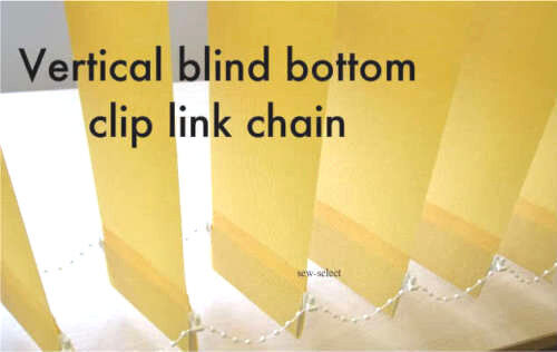 Vertical Blind Bottom Clip Link Chain Per 50 Clips Beaded