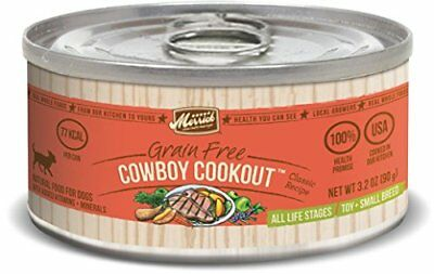 Merrick Classic Grain Free Cowboy Cookout  Small Breed Wet Dog Food, 3.2 oz Can