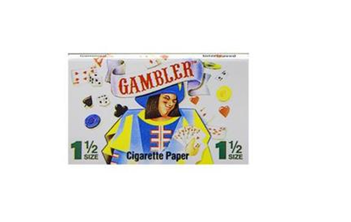 24x Packs Gambler 1.5 (32 Leaves Papers Per Pack) Cigarette Rolling FULL BOX