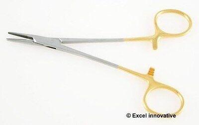 Halsey Needle Holder Smooth Jaws - TC Halsey Needle Holder 5