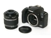 CANON 1000D with 18-55mm lens, perfect condition.