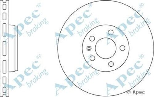 1x OE Quality Replacement Front Axle Apec Vented Brake Disc 5 Stud 321mm Single